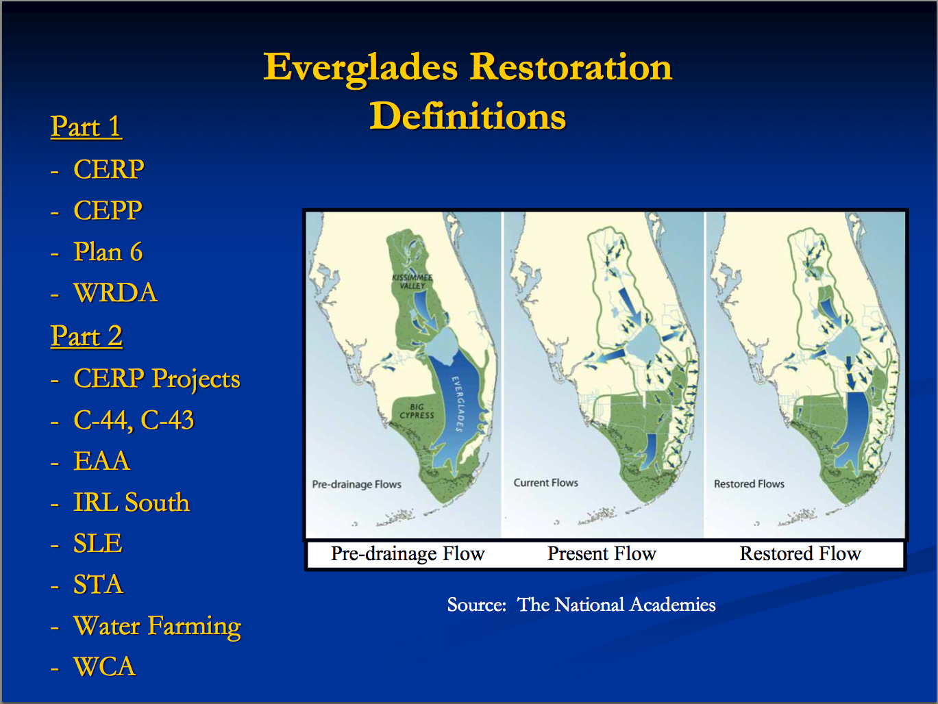 everglades restoration essay This 753 word essay is about everglades, flooded grasslands and savannas, everglades national park, airboat, restoration of the everglades read the full essay now.