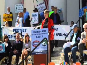 GMC Board Advisor Maggy Hurchalla at the 2015 Floridians for Clean Water Rally